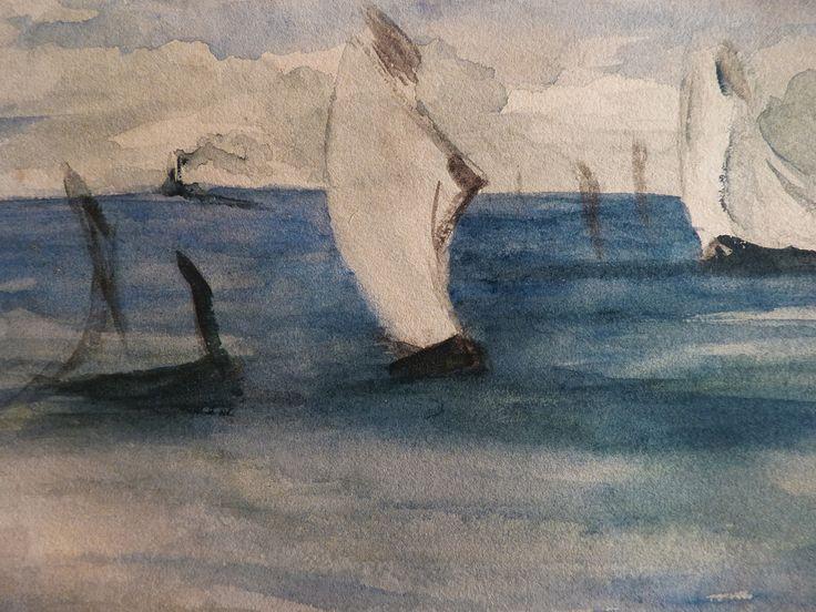"""MANET Edouard - Marine (drawing, dessin, disegno-Louvre RF31283) - Detail 01  -  TAGS / drawing dessin figure figures people art painter peintre details détail détails """"dessins 19e"""" """"19th-century drawing"""" croquis étude study sketch sketches painting paintings peinture peintures """"peinture 19e"""" """"19th-century paintings"""" """"19th century"""" """"details of painting"""" """"details of paintings"""" watercolour watercolor aquarelle seascape marine mer sea """"sea sight"""" sea ship boat blue bleu"""