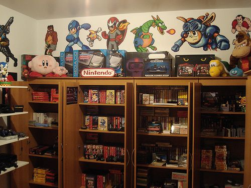 game collection with custom bead sprites