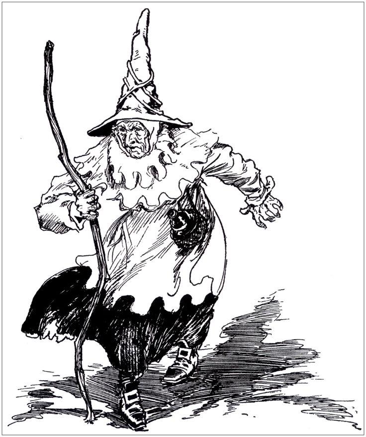 Un effrayante sorcière (ancienne illustration)A partir de la galerie : Halloween