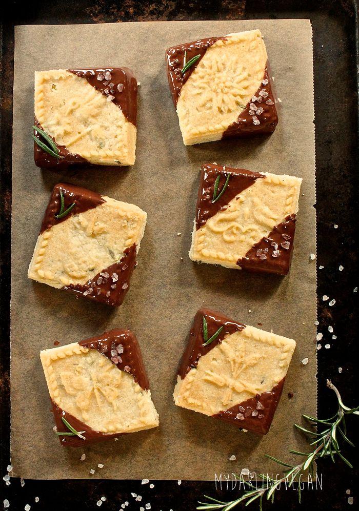 Sarahs Schokolade getaucht Rosmarin Shortbread-Plätzchen