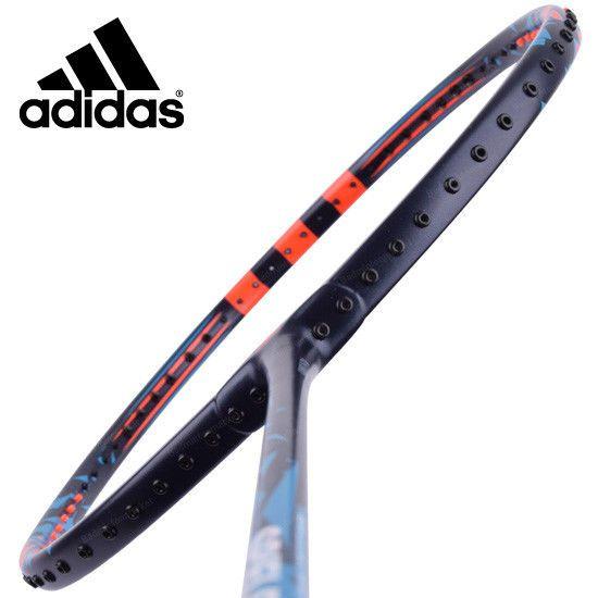 adidas Badminton Racket SPIELLER P09 Black Orange Racquet String with Cover G5 #adidas