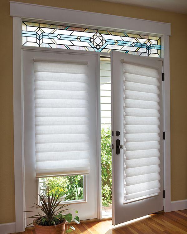 Classy Roman Shades French Door CurtainsTall CurtainsHunter DouglasWindow