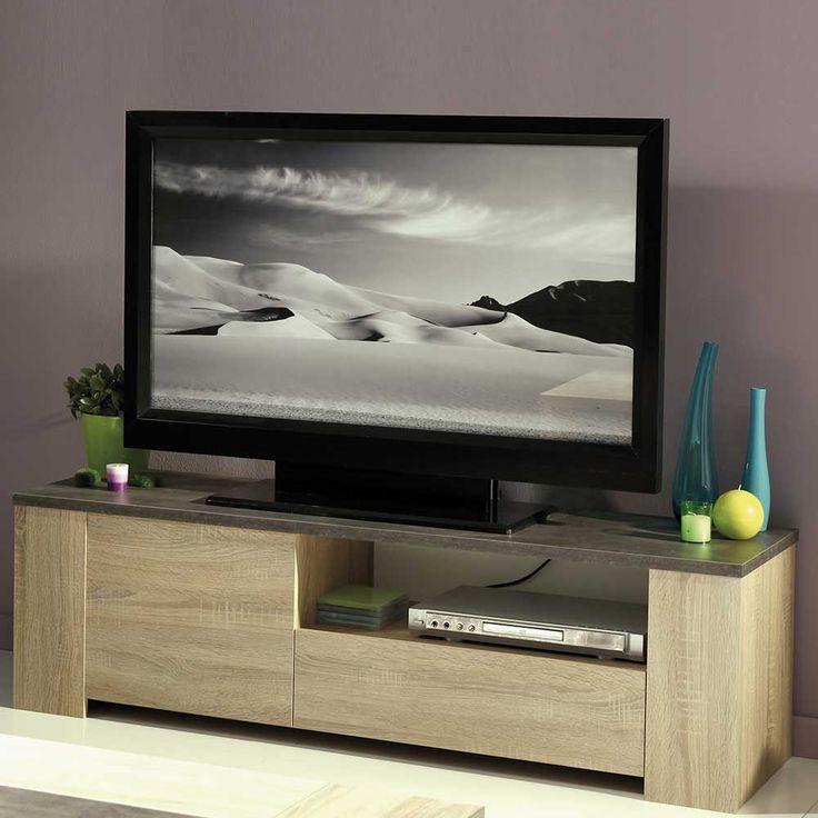 TV Lowboard In Eiche Sonoma Beton Optik Jetzt Bestellen Unter: Https:// Moebel