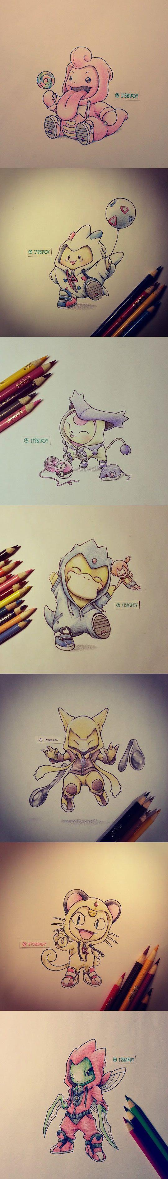 costumes mignons Pokemon Evolution Art ...