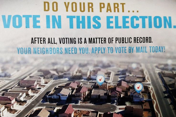 """The New Mexico Republican Party admits sending fliers to residents warning them that when """"Democrats win the election and you didn't do your part… your neighbors will know."""""""