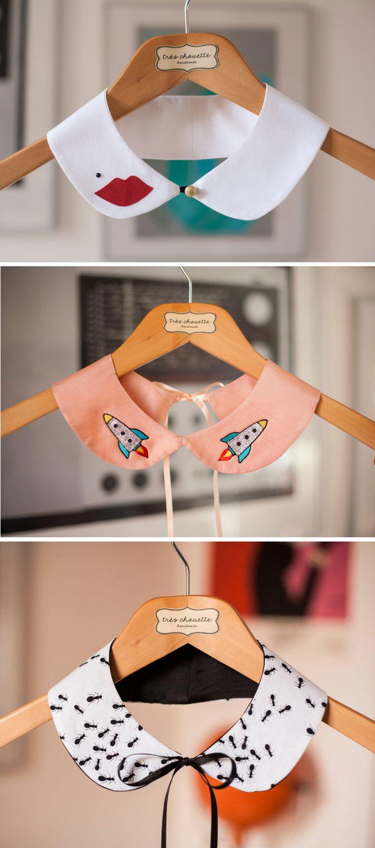 Dale un nuevo look a tus camisas con estos cuellos personalizados. #cuello #chic #fashion