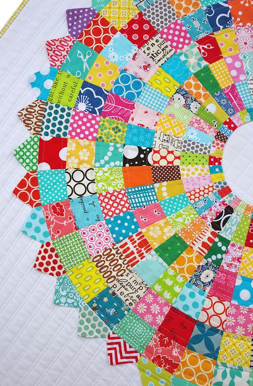 Red Pepper Quilts: Giant Dresden Plate Quilt - How to quilt and bind - A Finished Quilt.