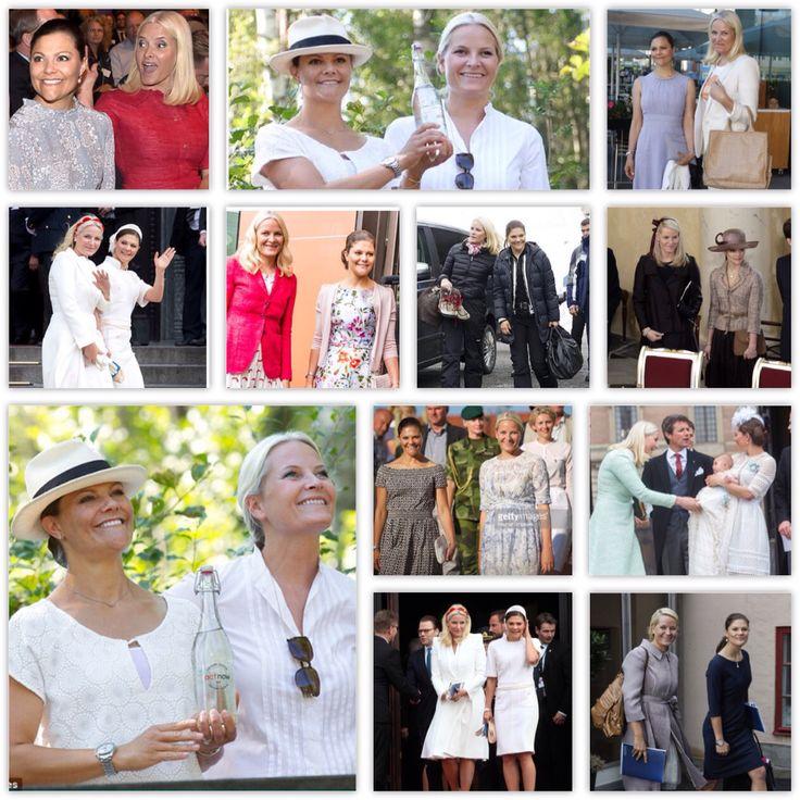 Crown princess Victoria & Crown princess Mette Marit