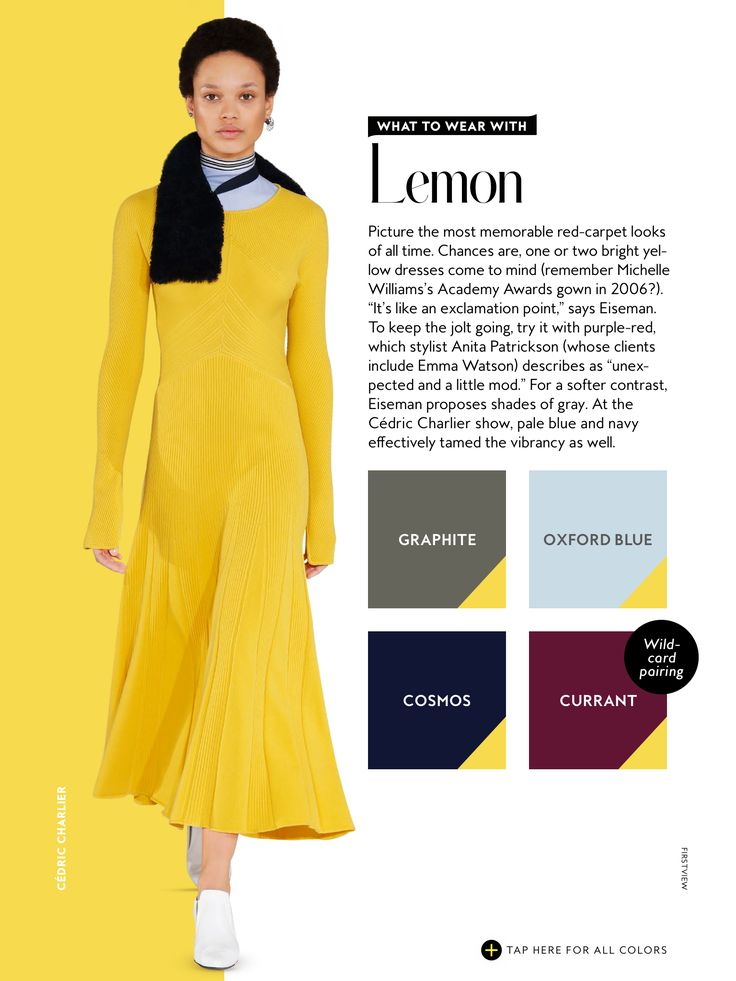 what to wear with InStyle Fall 2016 yellow