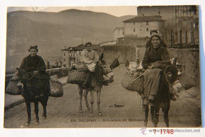 Aldeanas vizcaínas yendo a vender al mercado de Bilbao