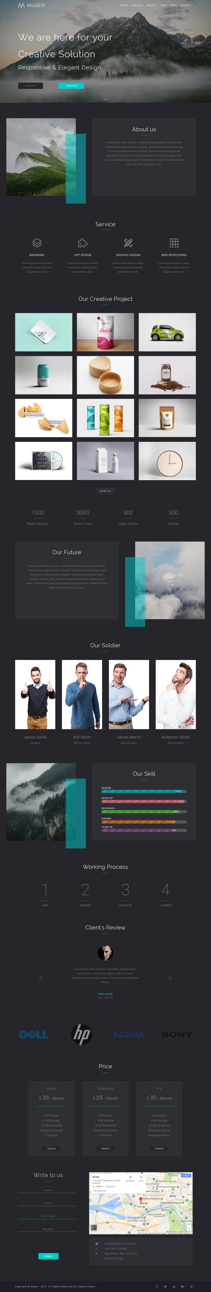 The 10 best Creative Muse Website Template images on Pinterest ...