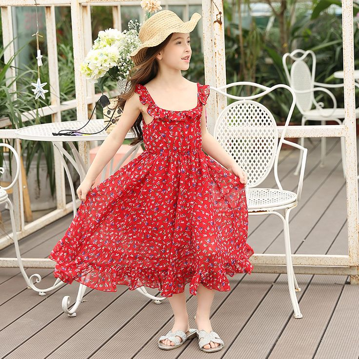 ==> [Free Shipping] Buy Best 2017 Flower Girl Dresses Summer Girl Clothes Baby Girl Vest Dress Girl Clothes Backless Party Dress Children Chiffon Vestidos Online with LOWEST Price | 32806601678