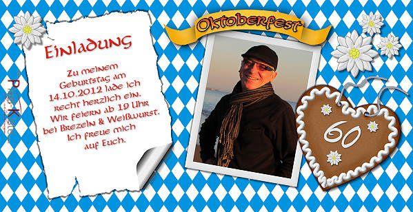 einladungskarten bayerisch – cloudhash, Einladungsentwurf