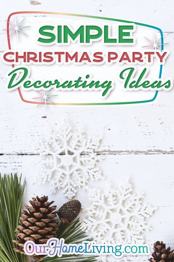 Simple Christmas Party Decorating Ideas Christmas Pinterest