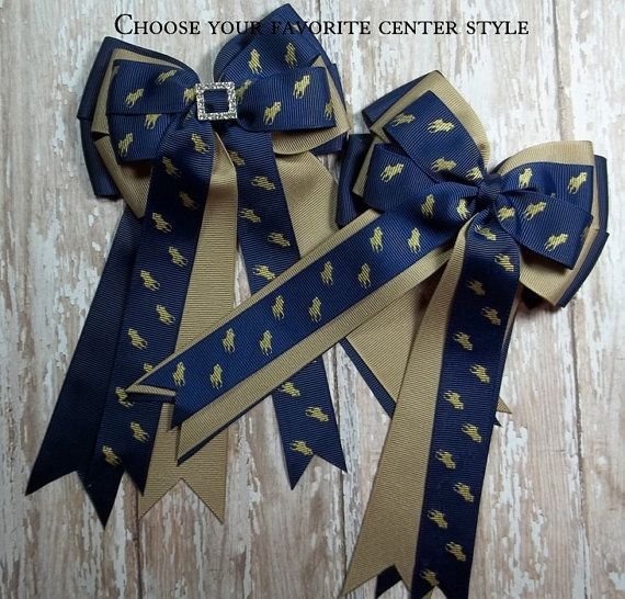 Pony Kid English Horse Show Hair Bow Set  by TheYoungEquestrian, $22.00