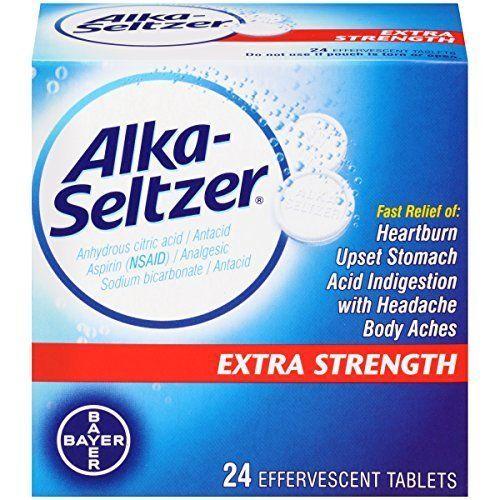 NEW Alka-seltzer Extra Strength, 24-Count #AlkaSeltzer