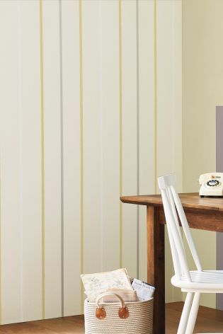 Ochre Multistripe Wallpaper from Next