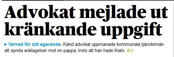 Advokat Lena Feuk har blivit varnad av Advokatsamfundets disciplinnämnd #barn #debatt #föräldrar #sverige