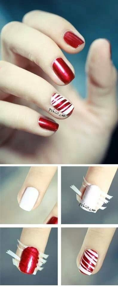 Candy cane nails