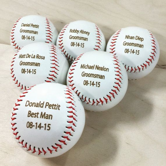Engraved Baseball Ring Bearer Gift Groomsman by EngraveMyMemories
