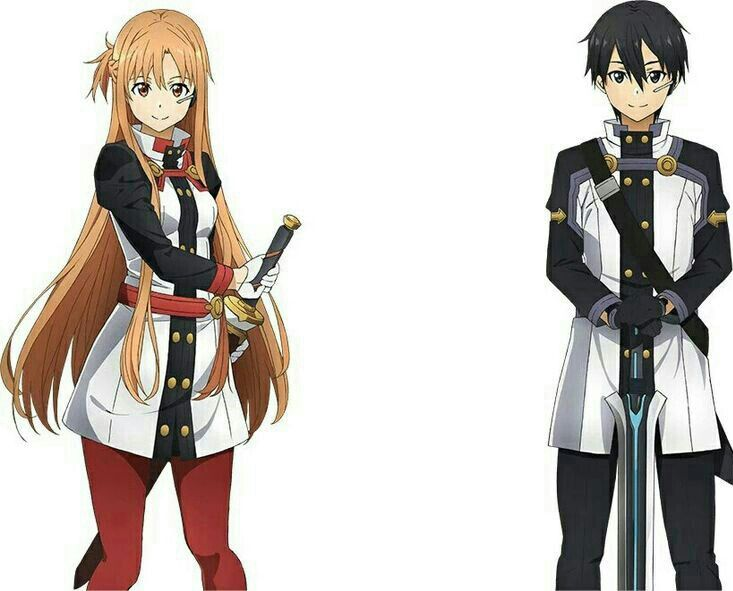 Asuna Yuuki & Kirito (Sword Art Online The Movie: Ordinal Scale Art )