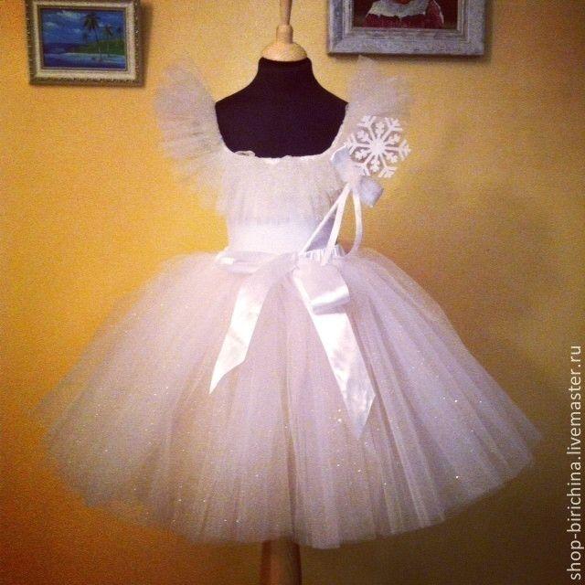 Купить Костюм Снежинки - белый, карнавальный костюм, карнавальные костюмы, костюм снежинки, снежинка, утренник