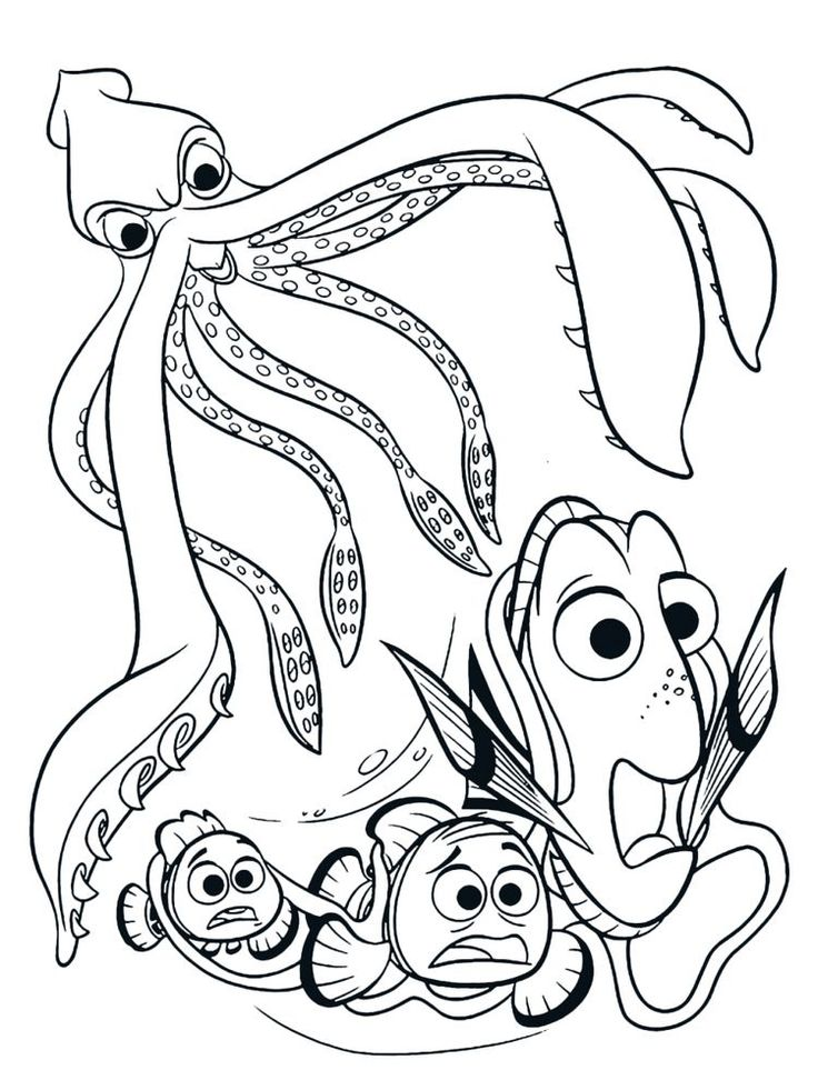 Splatoon Squid Coloring Pages Squid Is A Type Of Aquatic Animal With Tentacles And Has N Nemo Coloring Pages Finding Nemo Coloring Pages Animal Coloring Pages