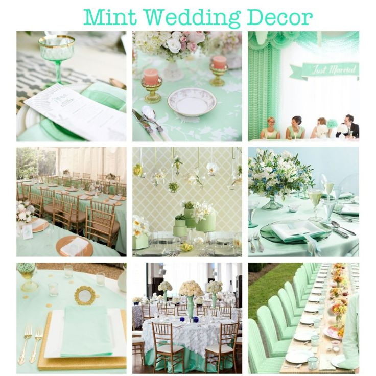 Mint Green Wedding Decor. (mint, Wedding, Decor, Decorations, Design,
