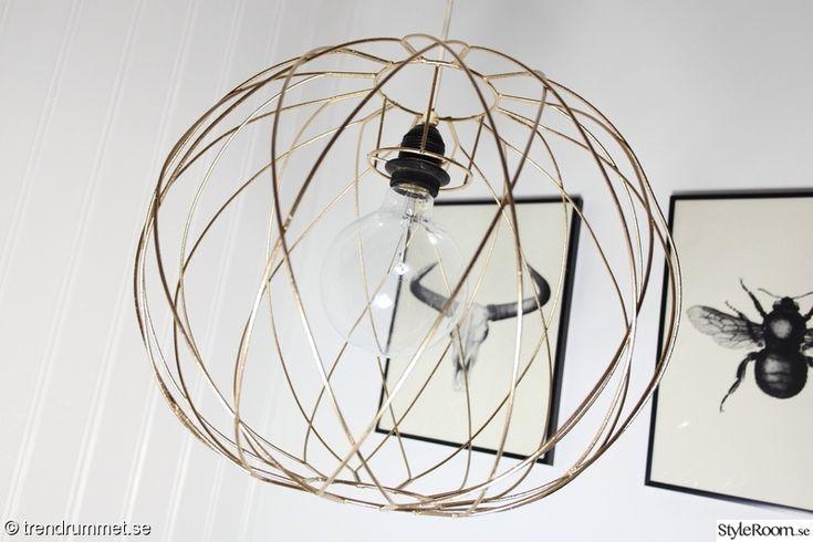 taklampa,guld lampa lampskärm