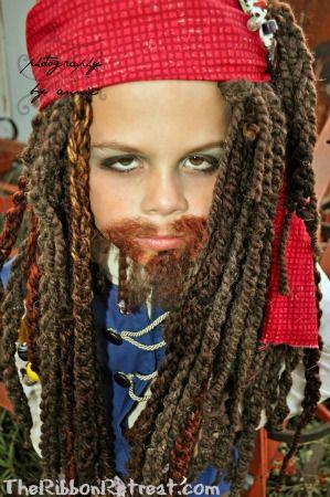 Jack Sparrow yarn wig