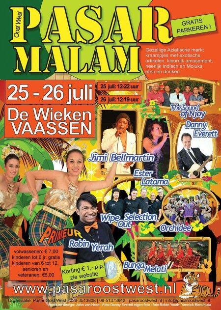 Weer een gezellige Pasar Malam van Pasar Oost West in Vaassen op 25 en 26 juli ! http://www.pasaroostwest.nl