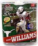 Ricky Williams University of Texas College Football Figure Manufacturer: McFarlane Toys Series: McFarlane Toys College Football Sports Picks Series 4 Release Date: July 2012 For ages: 4 and up UPC: 843852061092 Details (Description): The 1998 Heisman trophy winner is our first-ever University of Texas figure. Over his career with the Longhorns, Williams held or shared 20 NCAA records including career rushing. He was selected fifth in the 1999 NFL Draft by the New Orleans, with the Saints ...