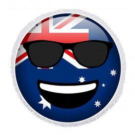 Australia Day Emoticon Round Towel - 150cm