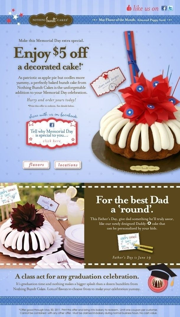 Up to 85% OFF Nothing Bundt Cakes 2018 Verified - Coupon, Deal...