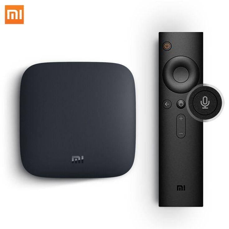 מקורי xiaomi mi טלוויזיה תיבת 3 אנדרואיד 6.0 smart 4 k quad Core HD WiFi Bluetooth מוטי בשפה Set-top Youtube IPTV Dolby DTS מדיה