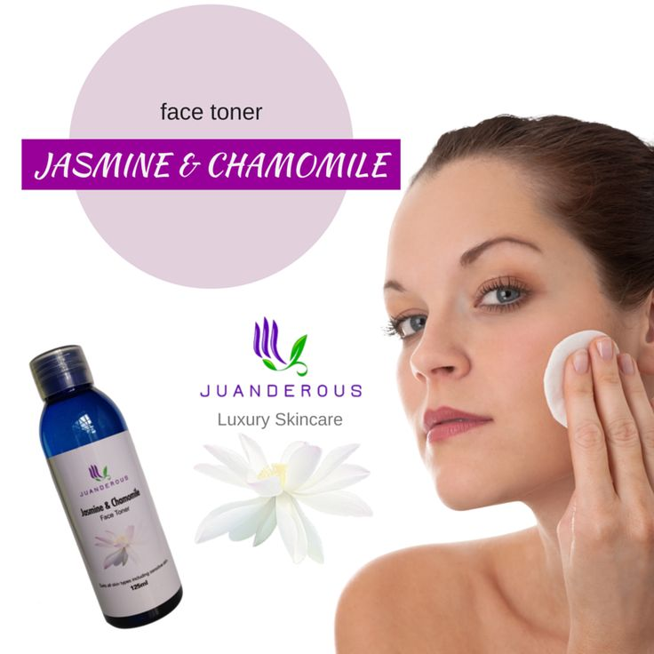 Jasmine & Chamomile Face Toner - Vegan Product $25.00 Our luxurious Jasmine & Rose Face Toner is made with natural jasmine and chamomile floral waters to soothe even the most sensitive of skin. The natural witch hazel water removes excess oils and bacteria too. Our toners are hydrating, and filled with active ingredients that also treat and soothe your skin.