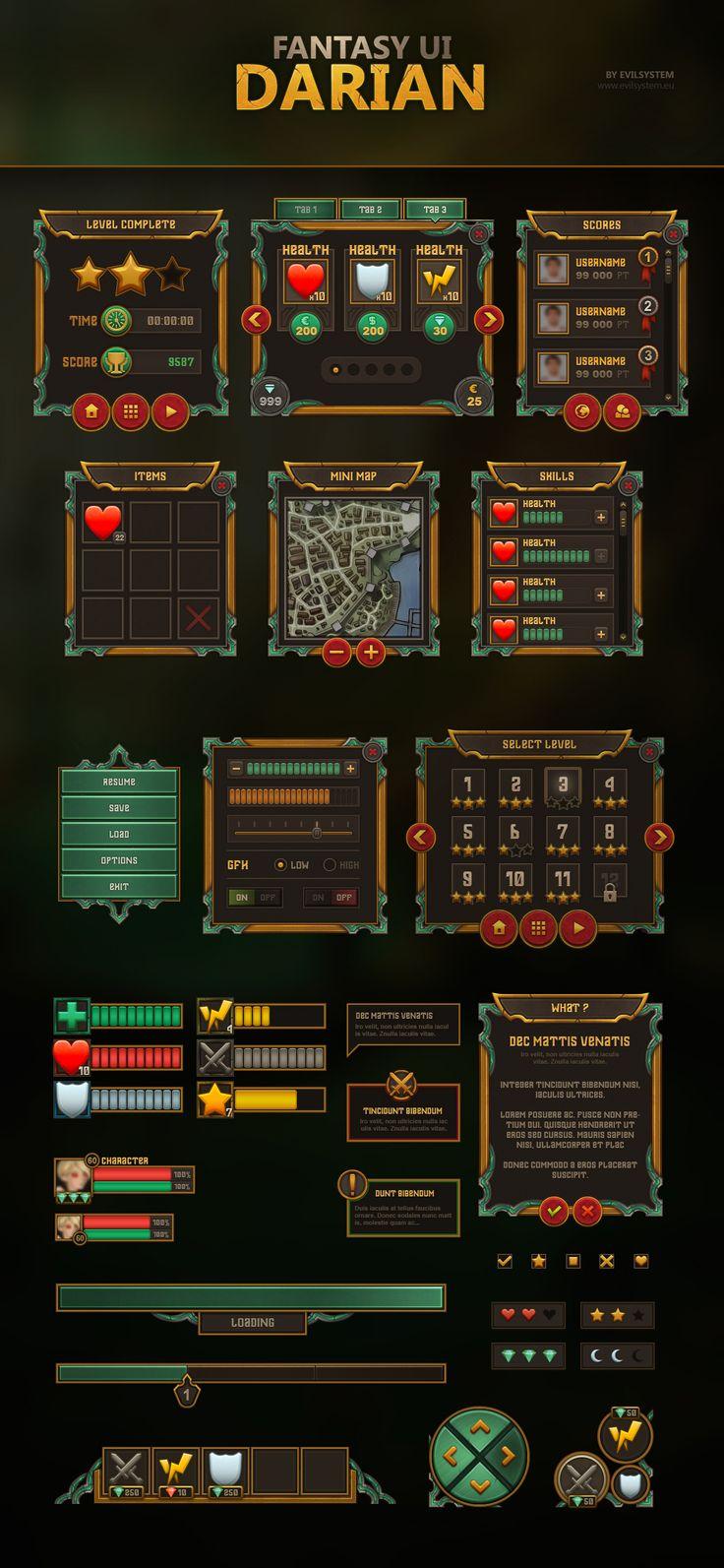 Fantasy UI - Darian by Evil-S on DeviantArt