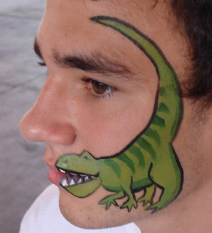 best 25 dinosaur face painting ideas on pinterest fasching schmink ideen f r kinder dragon. Black Bedroom Furniture Sets. Home Design Ideas