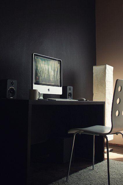 11 best narrow office spaces images on pinterest desks for Cool office setups