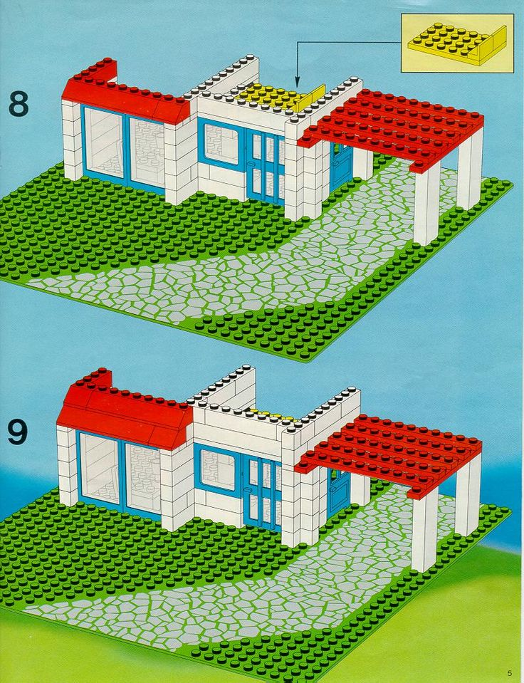 Les 25 meilleures id es concernant instructions lego sur for Lego classic house instructions