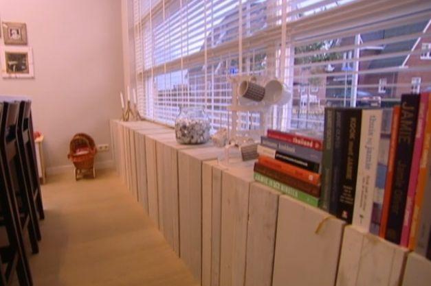 Houten radiatorombouw, zou mooie oplossing zijn in de slaapkamers!
