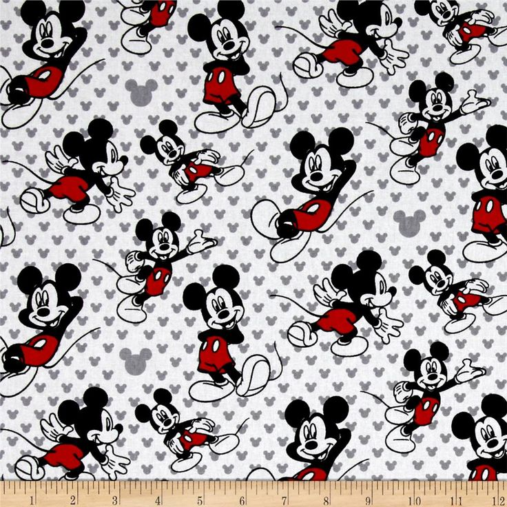 Disney Mickey Totally Mickey Relaxed White from @fabricdotcom  Licensed by Disney to Springs Creative Products, this cotton print is perfect for quilting, apparel and home décor accents. Colors include red, black, grey and white. This is a licensed fabric and not for commercial use.