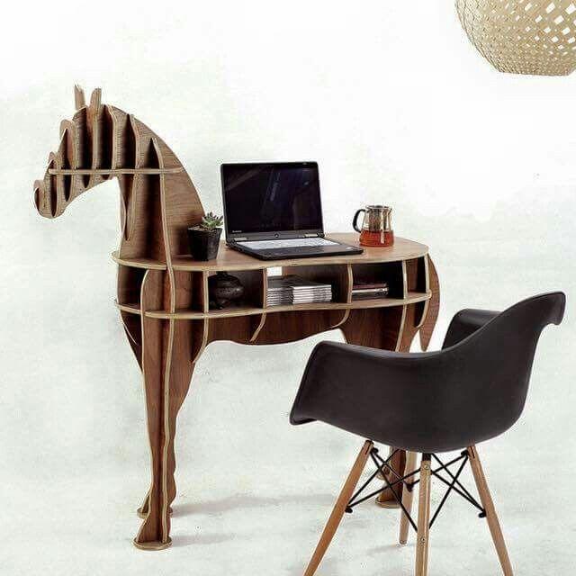 Wooden Horse Desk