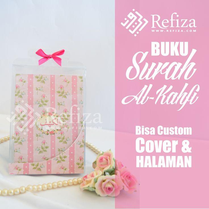 Buku surah Al - Kahfi dari refiza siap menemani ibadahmu, bisa custom motif cover dan halamannya.