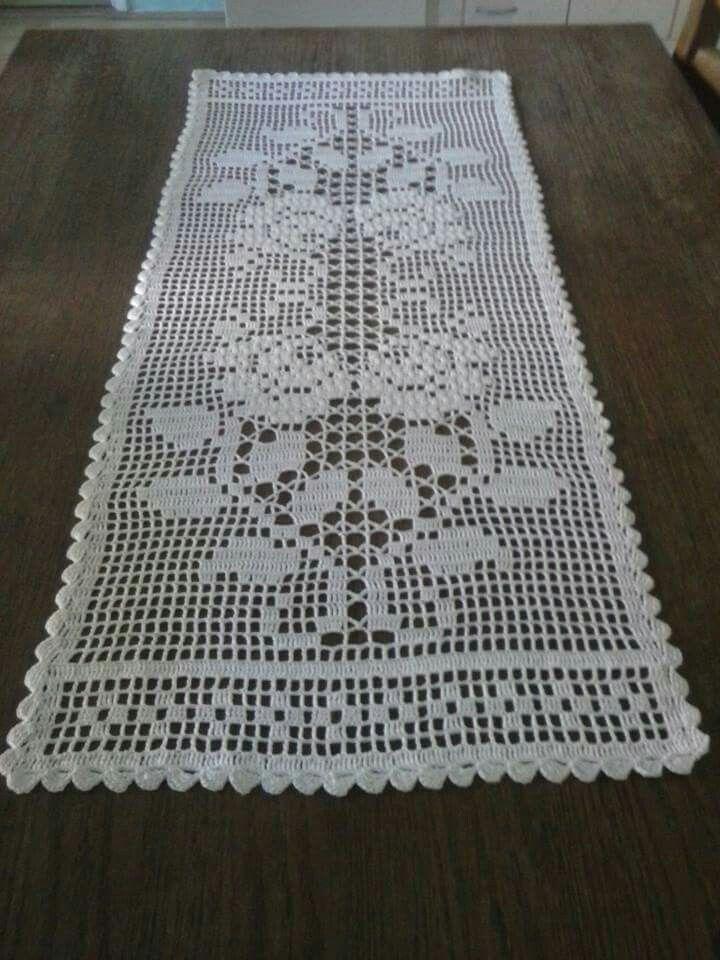 Resultado de imagen para camino de mesa a crochet