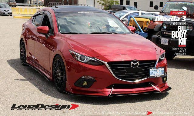 Mazda 3 Bm Axela Lenzdesign Bodykit Spoilers 2013 2014 2015 2016 2017 2018 Mazda 3 Hatchback Mazda 3 Sedan Mazda 3