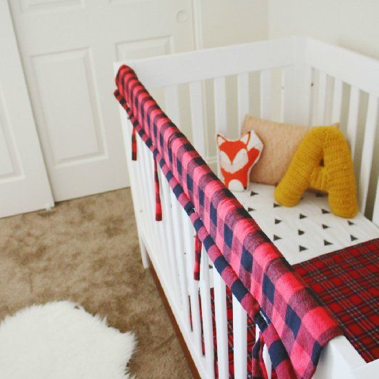 Chewing baby on your hands? This easy DIY crib teething guard is stylish and easy to make!