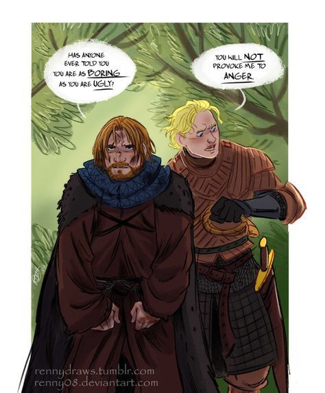 Game of Thrones (GOT) example #296: Game of Thrones' Jaime and Brienne by Renny08 on @DeviantArt #gameofthronesmeme