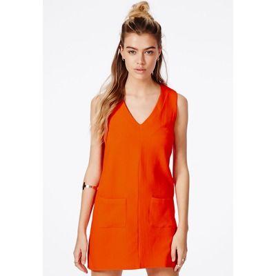 Missguided Orange Shift Dress
