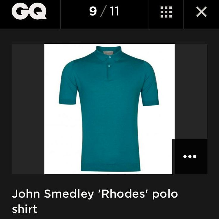 """Our Rhodes polo shirt featured in GQ magazine's """"11 Best Menswear Items in the World This Week!"""""""
